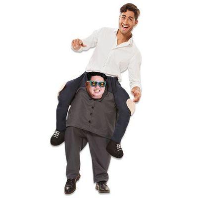 Foto van Carry me kostuum Kim Jong Un met bril