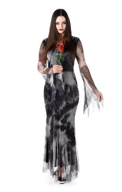 Zombie bruidsjurk zwart