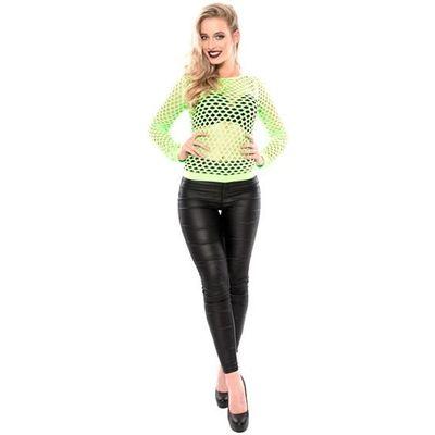 Visnet shirt neon groen