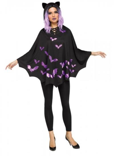 Halloween poncho vleermuis