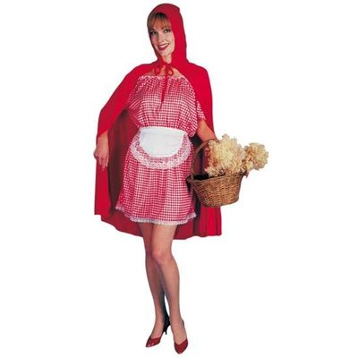 Roodkapje kostuum dames