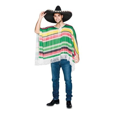 Mexicaanse poncho groen