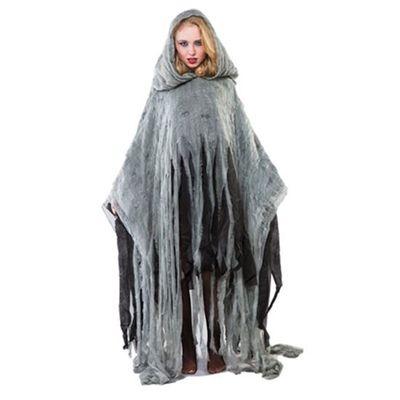 Halloween poncho grijs
