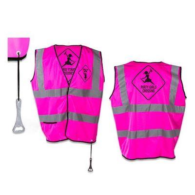 Roze veiligheidsvest 'Girls at work'