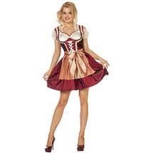 Dirndl jurk (grote maten) - Roos
