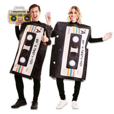 Foto van 80's kostuum cassettebandje