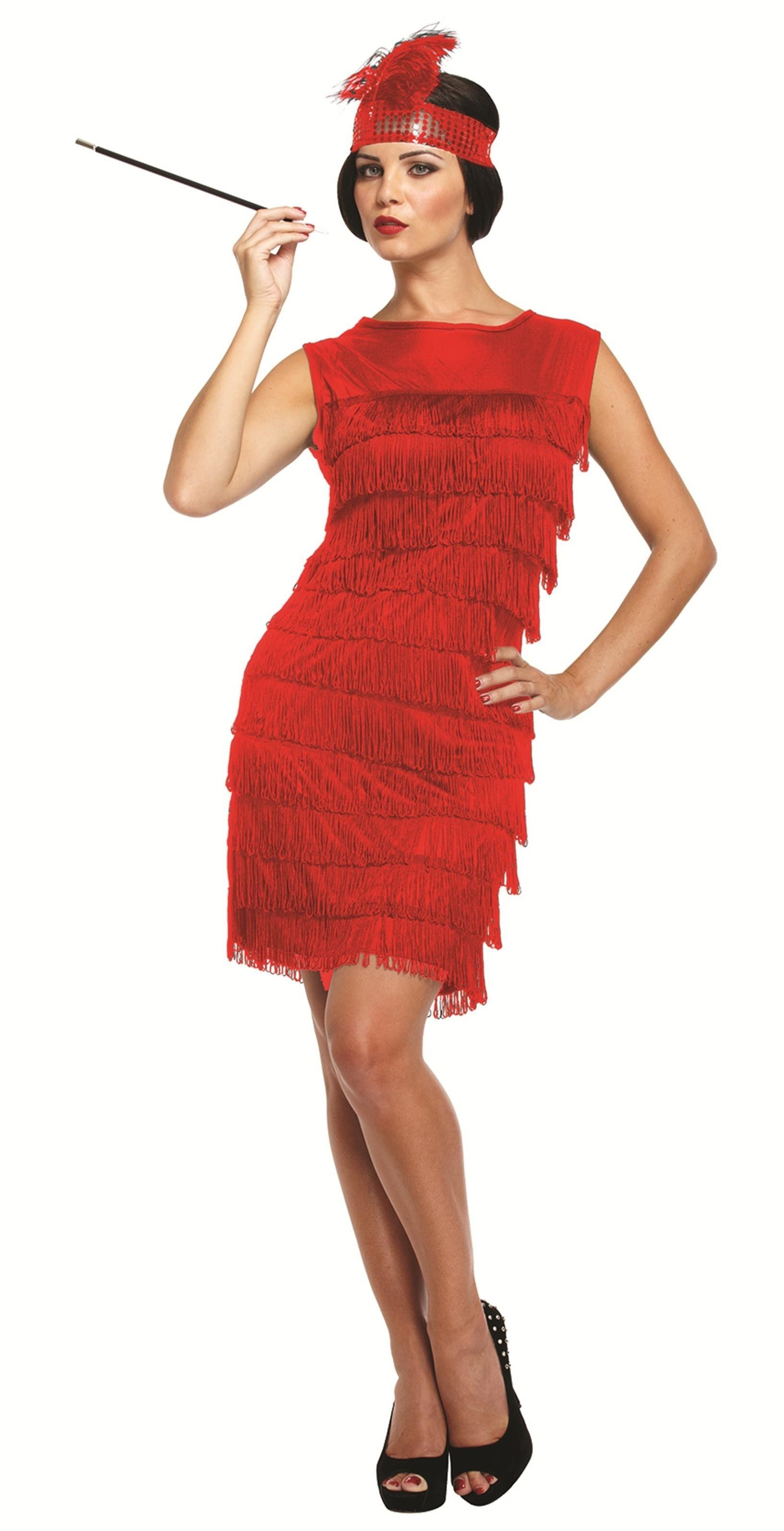 Jaren 20 jurkje rood kopen? || Confettifeest.nl