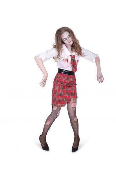 Zombie lerares kostuum