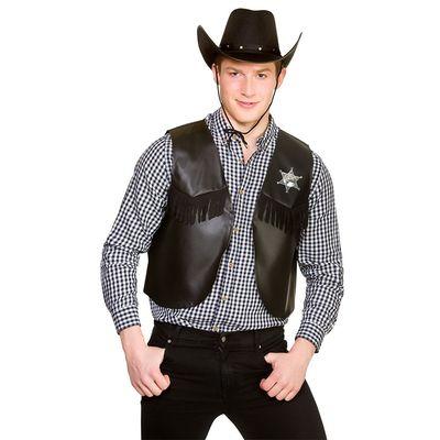 Foto van Cowboy gilet zwart met ster