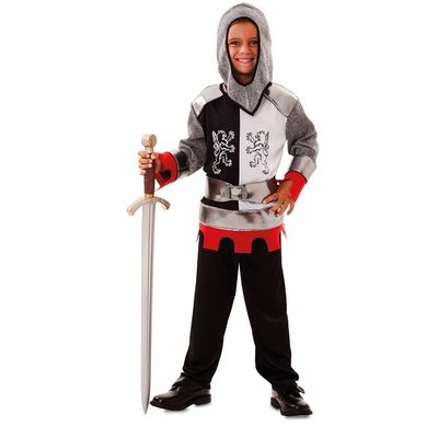 Foto van Middeleeuws ridder kostuum kind