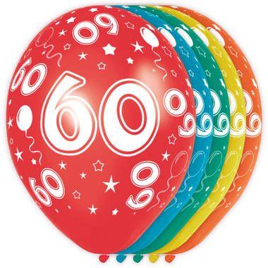 Foto van Leeftijd ballonnen 60 jaar 5 stuks