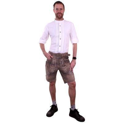 Tiroler blouse wit deluxe heren
