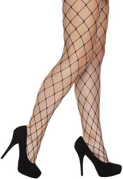 Zwarte visnet panty (whalenet)