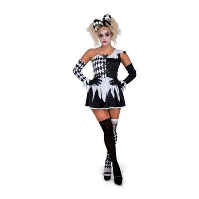 Foto van Harlekijn kostuum zwartwit
