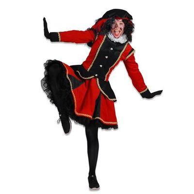 Dames pietenjurk Madrid zwart/rood