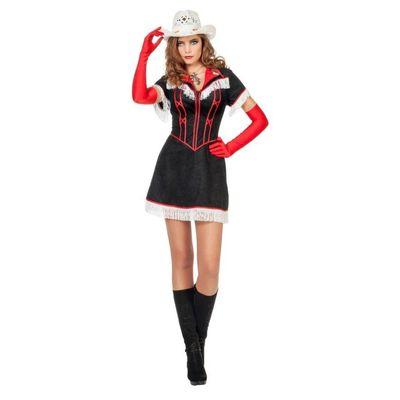 Foto van Cowgirl kostuum zwart - Luxe