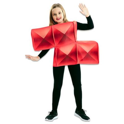 Foto van Tetris kostuum rood kind