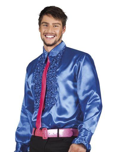 Disco blouse blauw