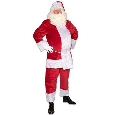 Kerstman kostuum polyesterfluweel