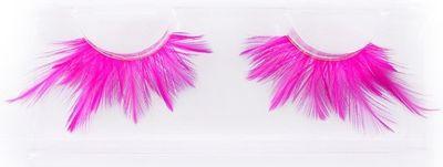 Neon wimpers roze XL - veertjes