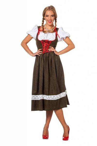 Lange dirndl jurk Lieke