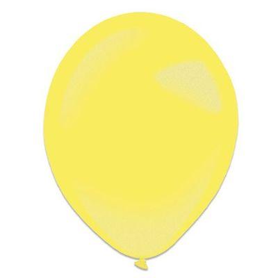 Ballonnen yellow sun metallic (13cm) 100st