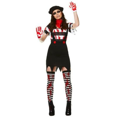 Zombie mimespeler kostuum