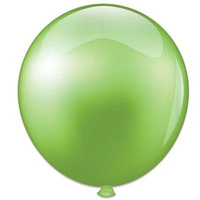 Topballon parel limoengroen (91cm)