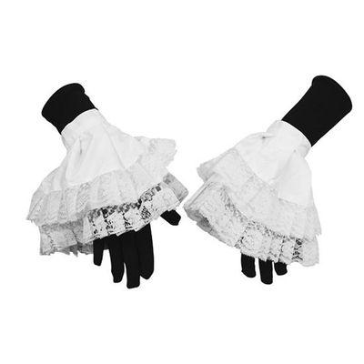 Pieten manchet luxe met kant wit