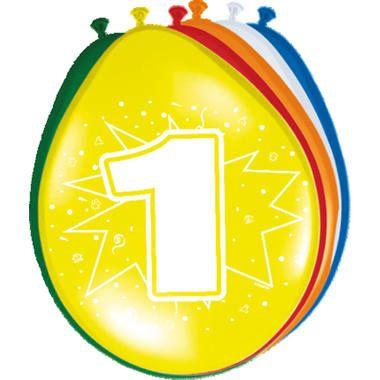Leeftijd ballonnen 1 jaar 8 stuks