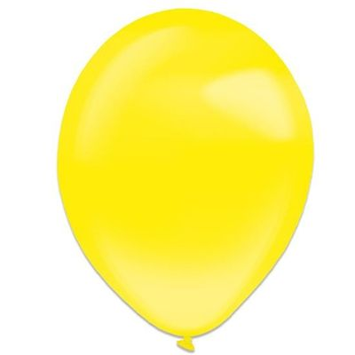 Foto van Ballonnen yellow sun crystal (28cm) 50st