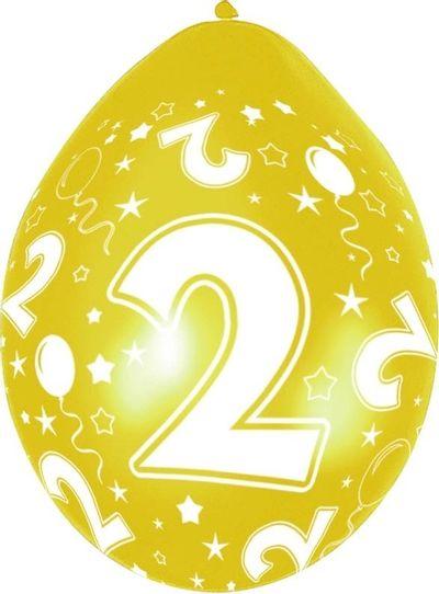 Ballonnen 2 jaar 5 stuks