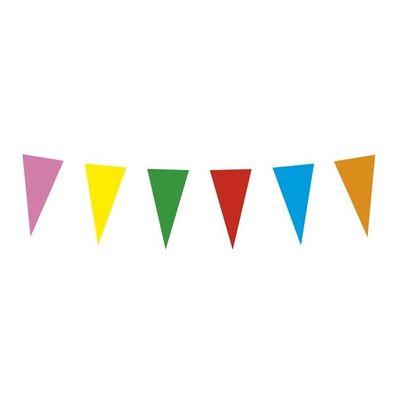 Foto van St. Papieren vlaggenlijn veelkleurig (10 m)