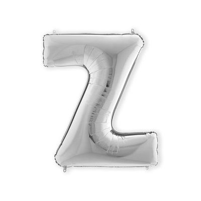 Foto van Folieballon letter Z zilver XL (100cm)