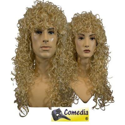 Theaterpruik krul lang blond