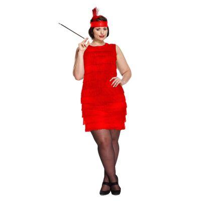 Foto van Jaren 20 jurkje rood (plus size)