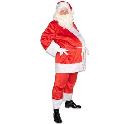 Foto van Kerstman kostuum katoenfluweel