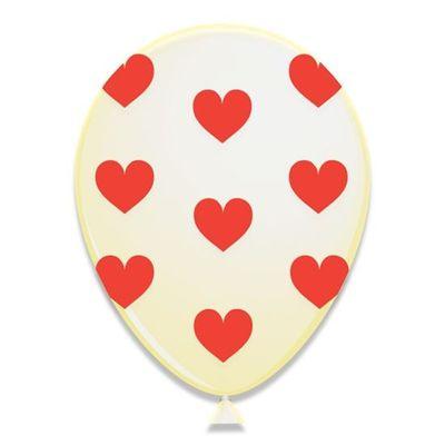 Foto van Hartjes ballonnen rood 6 st (30cm)