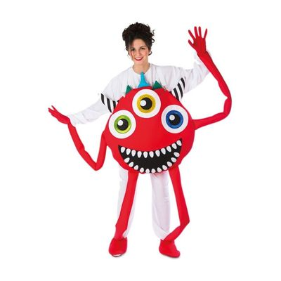 Foto van Monster kostuum rood unisex one size
