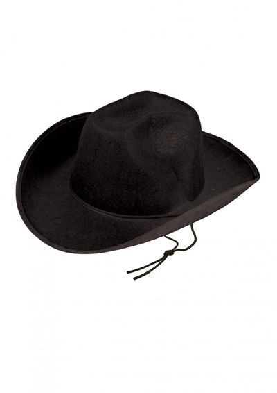 Cowboyhoed vilt zwart