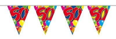 Vlaggenlijn balloons 50 jaar 10M