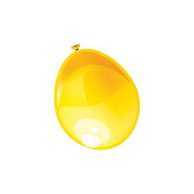 Ballonnen metallic geel 10st