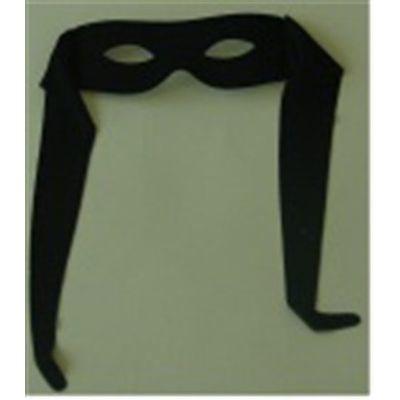 Oogmasker zorro met band zwart