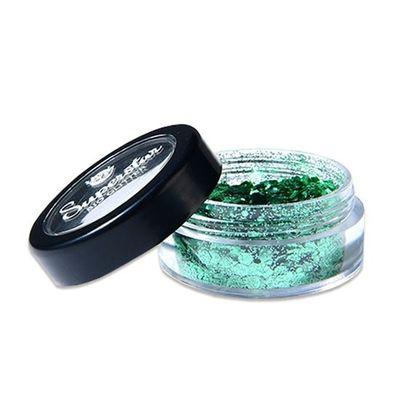 Bio chunky gezicht glitter groen