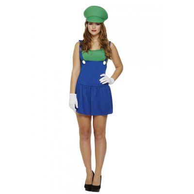 Foto van Luigi kostuum dames