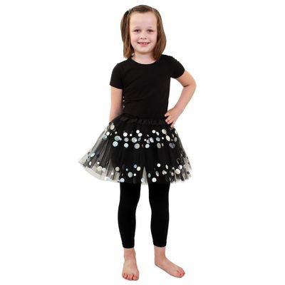 Foto van Tule rokje kind - Zwart dots