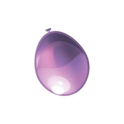 Ballonnen Metallic violet 10st.