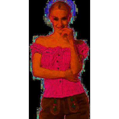 Foto van Tiroler blouse dames roze