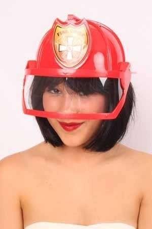 Brandweerhelm rood + vizier