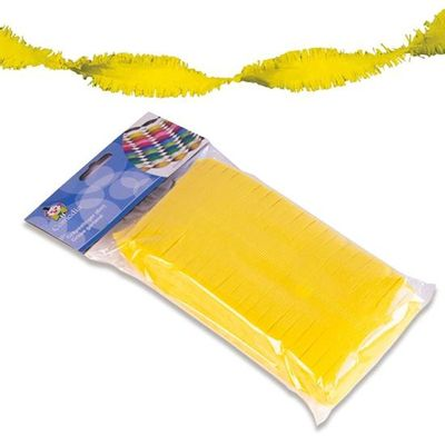 Crepe slinger geel 6m